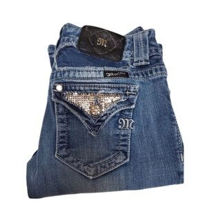 Miss Me Bling Pocket Boot Cut